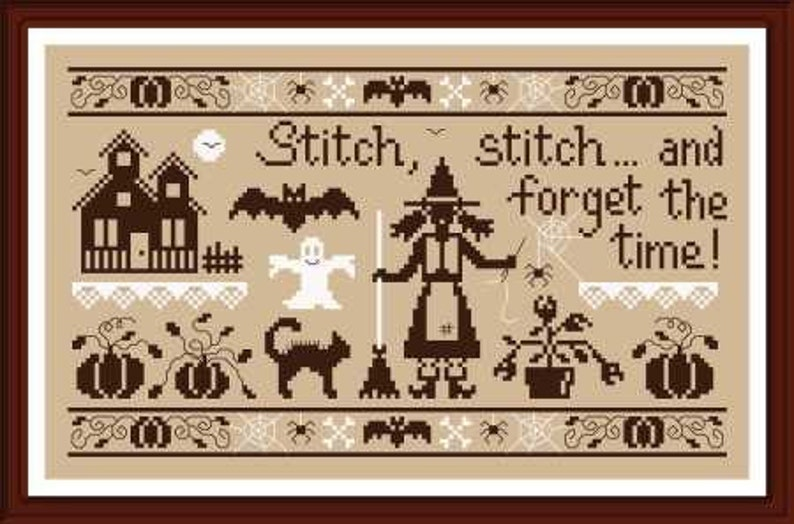 Stitch Stitch and Forget the Time counted cross stitch image 0