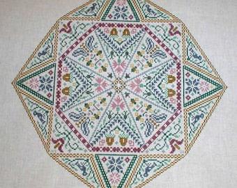 New World Counted Cross stitch Chart.