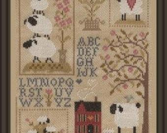 Sheep Story 3 – counted cross stitch chart.