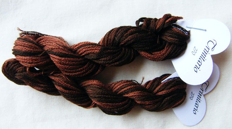 270 Trinitario  hand dyed variegated stranded cotton by Fils image 0
