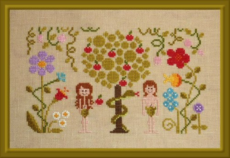 In the Beginning  counted cross stitch chart to work in 16 image 0