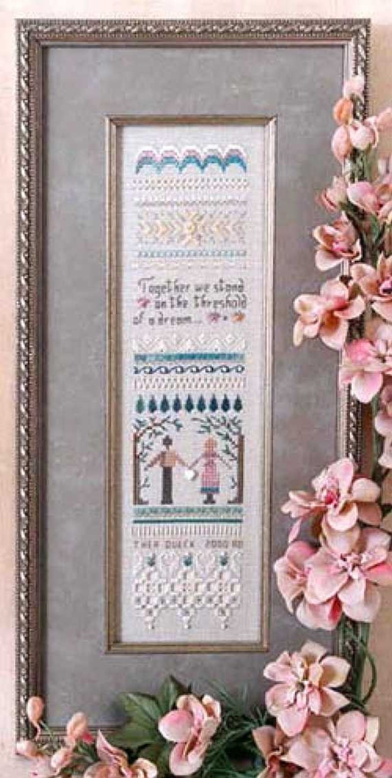 Golden Dreams Sampler  Counted thread Embroidery Chart and image 0