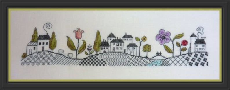 Up and Down Hill Ondulations  counted cross stitch chart. image 0