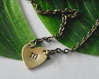 Brass Heart Custom Necklace