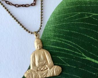 Brass Buddha Layered Necklace