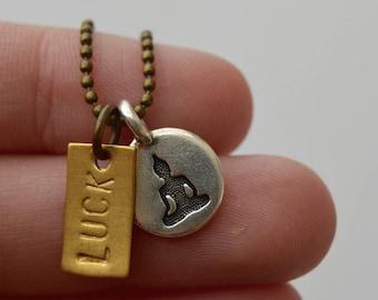 Mini Buddha Tag Necklace - Personalized, Custom