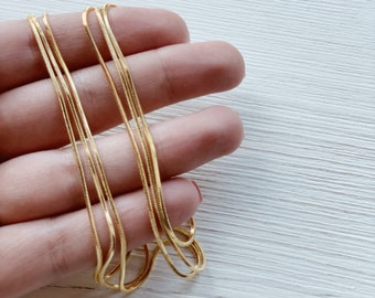 Gold Snake Chain Necklace, Gold Filled, Minimalist Necklace, Dainty Necklace