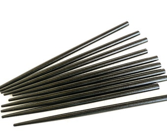 10  Black Lacquered Chopsticks for wearable art