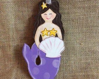 Mermaid ornament, personalized ornament
