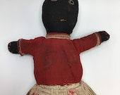 African American White Topsy Turvy Doll