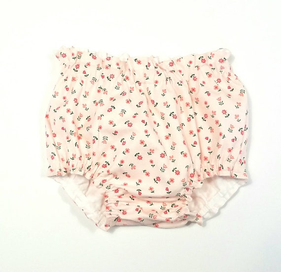 Baby Bloomers Dusky Pink Floral Print Cotton Childrens Toddler