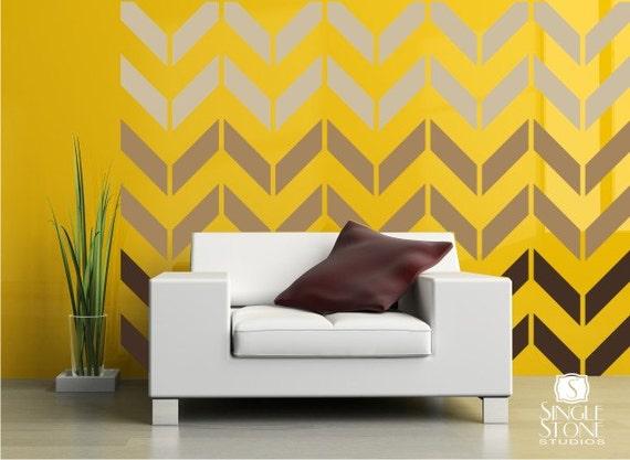 Chevron Pattern Wall Decals Vinyl Art Stickers Custom Home