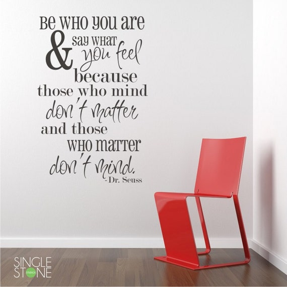 be who you are wall decals quote vinyl wall words custom | etsy