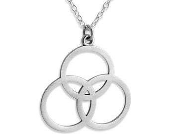 2be2b087f Borromean Rings 3 Circles Symbol of the Christian Trinity Trefoil Religious  Charm Pendant Necklace #925 Sterling Silver #Azaggi N0194S