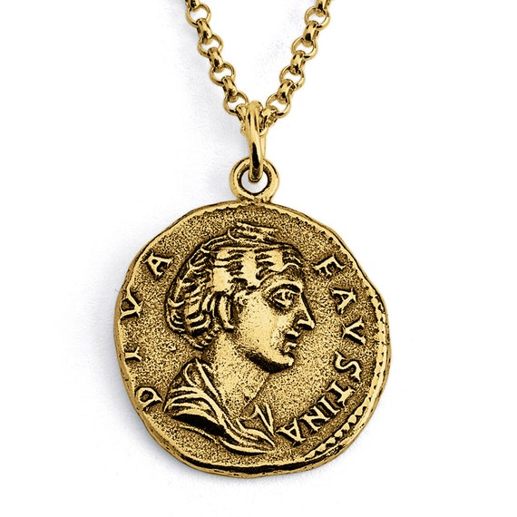 Campania Neapolis Replica Ancient Coin Money Currency Numismatic Charm Pendant Keychain #925 Sterling Silver #Azaggi K0864S