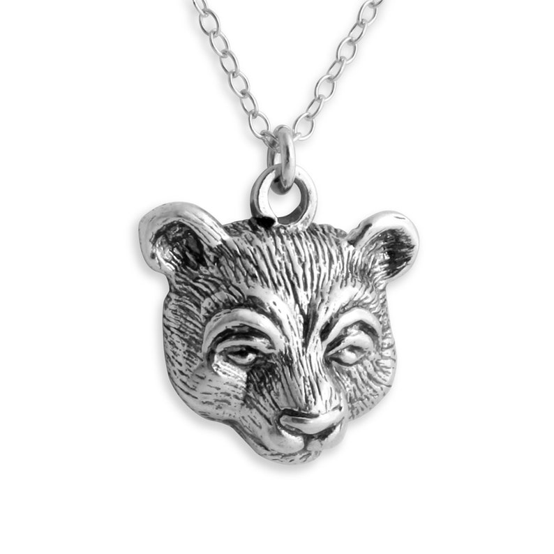 18 Azaggi 14k Gold Plated Over Sterling Silver Bear Head Necklace