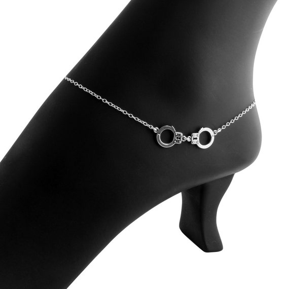 Police Handcuffs Chain Link  Ankle Bracelet Anklet