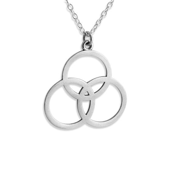 Borromean Rings 3 Circles Symbol Of The Christian Trinity Etsy