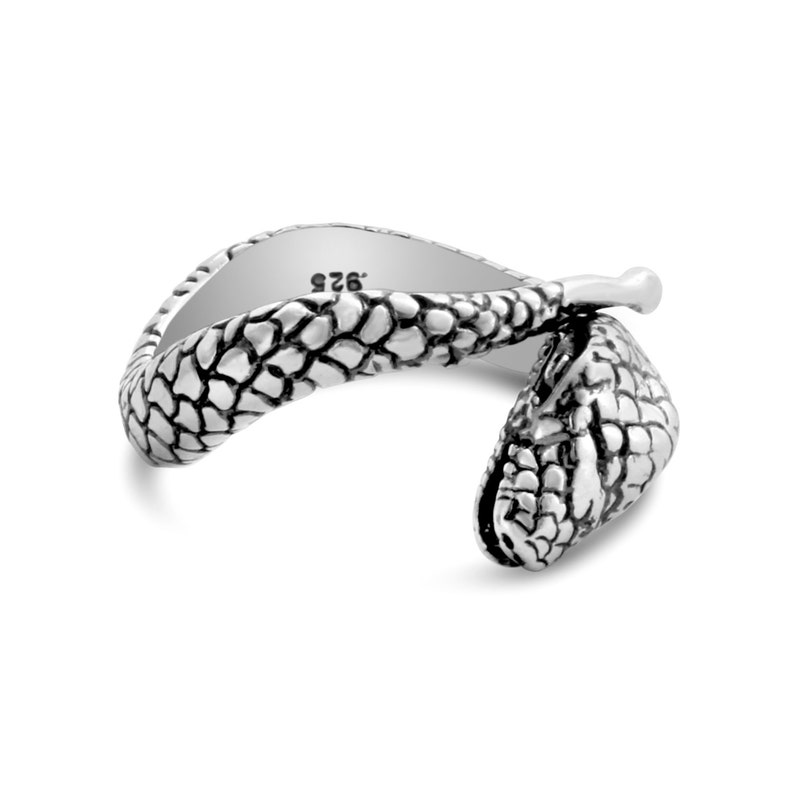 Snake Serpent Reptile Animal Symbol of Rebirth /& Healing Chinese Zodiac Sign Adjustable Stackable Ring #925 Sterling Silver #Azaggi R0153S