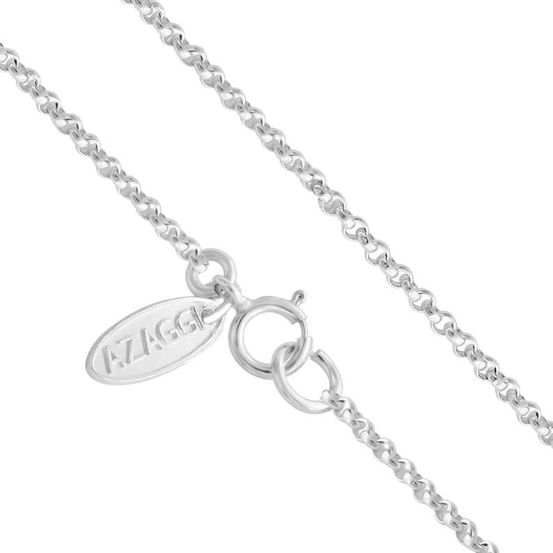 Large Fleur de Lis French Lily Flower European Royal Symbol Double Sided Charm Pendant Necklace #925 Sterling Silver #Azaggi N0241S