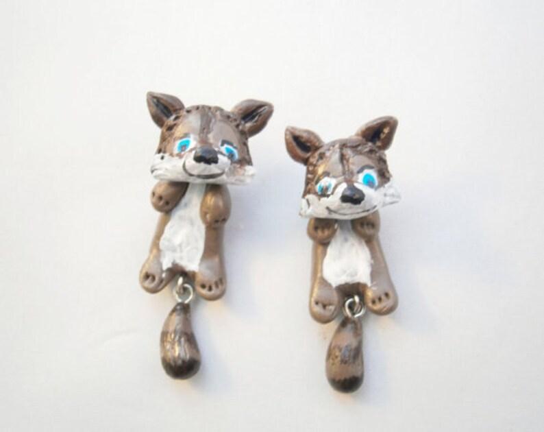 Raccoon ear tunnels animal earplugs dangle plugs for gauged ears cute girly plugs  16g 12g 10g 8g 6g 4g 2g 0g 00g 12 916 58 1116 1316