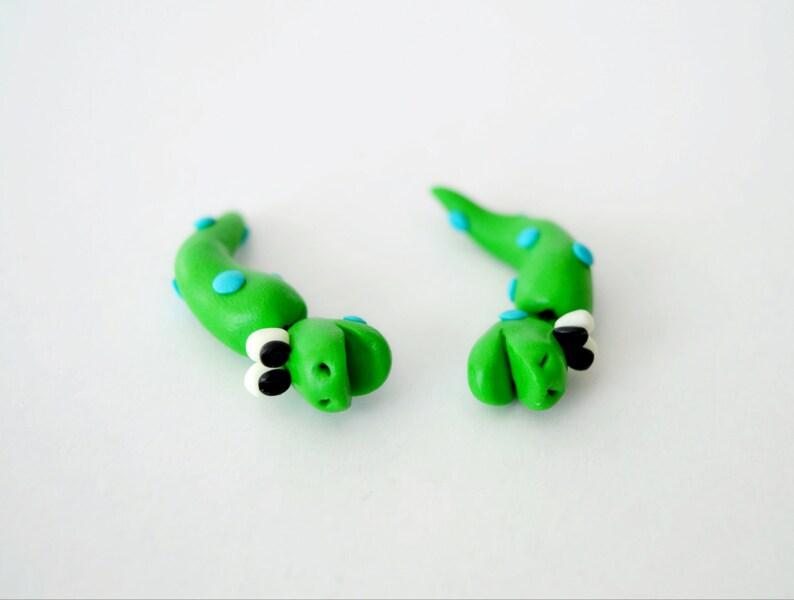 green snake earrings,ear jacket,animal fake plug,two part stud earrings,fake gauge,double sided earring,serpent front to back ear cuffs