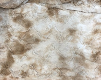Tan Faux Fur Fabric by the yard