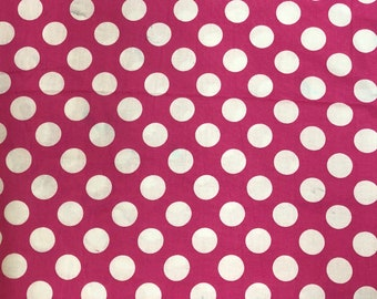 Pink Polka Dot Fabric by the yard