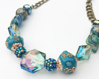 abalone beaded necklace