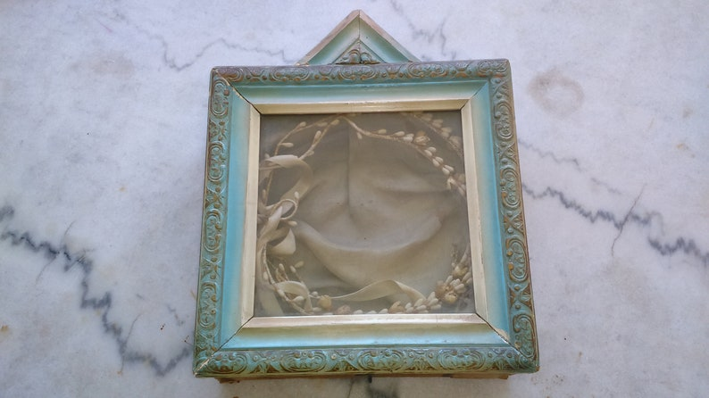 Vintage Wedding Case Wedding Crown Vintage Stefana Wedding Lemon Flowers Wood Case Chabby Chic Case Wedding Keepsake Shadow Box