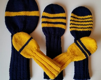Knit Golf Headcovers Etsy
