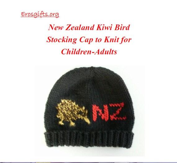 New Knitting Pattern New Zealand Kiwi Bird Stocking Cap For