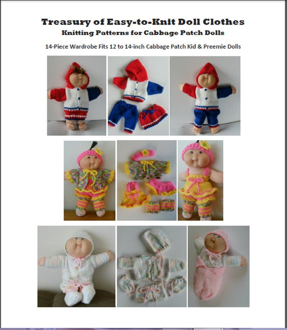 New Knitting Pattern Treasury Of Easy To Knit Doll Clothes Etsy
