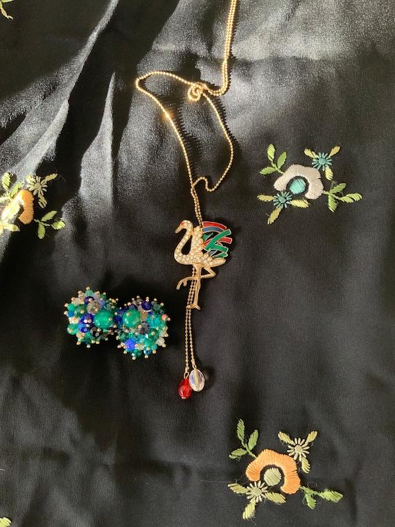 Duchess of Windsor Style Flamingo Necklace