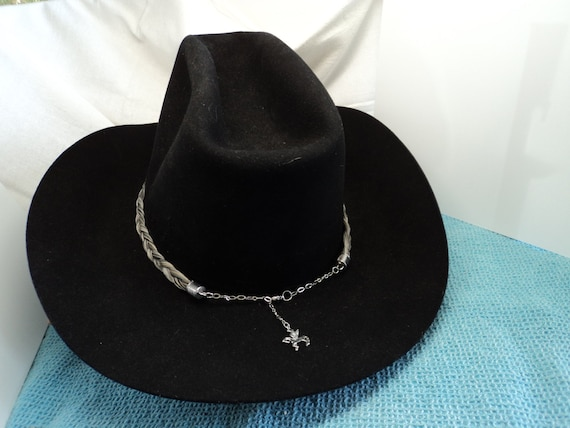 dde17f79e9c Handmade Horsehair Unique Custom Hat Band Adjustable Size with