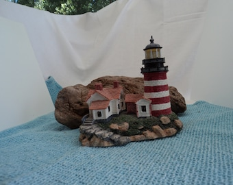 PRICE REDUCED -- West Quoddy Head Light with Cerificate of Authenticity #145/15,000 Lighthouse Point Collector's Society