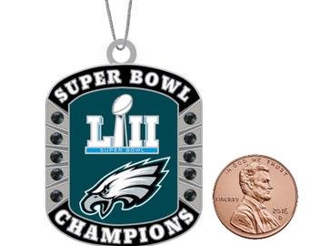 f52f29d6249 PHILADELPHIA EAGLES Super Bowl Christmas Ornament with Rhinestone