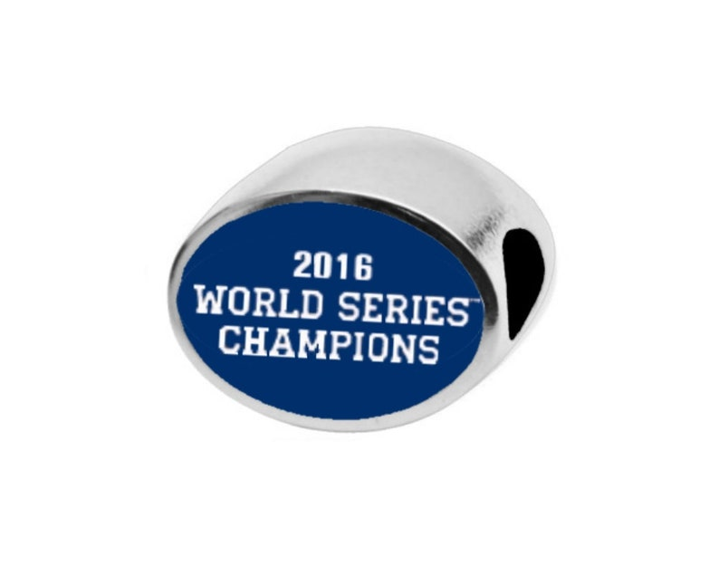 CHICAGO CUBS WORLDS Series Bead Fits Large Hole European Style Bracelets