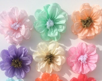 Tissue paper flowers etsy popular items for tissue paper flowers mightylinksfo