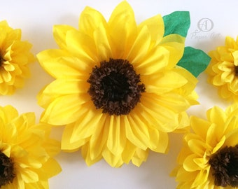 Custom Sunflowers Giant 19in Tissue Paper 14 And 10 Inches Party Decorations  Wedding Backdrop