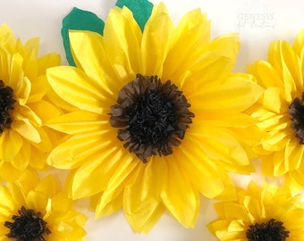 Paper Sunflowers Etsy