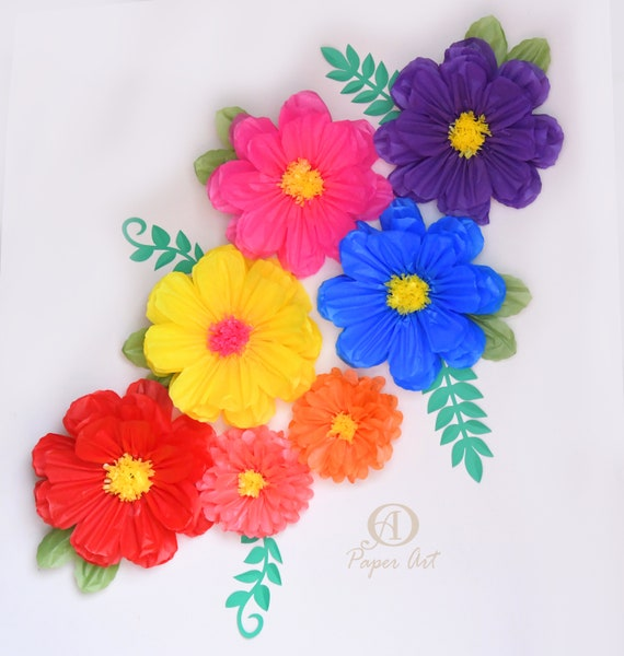 Mexican Large paper flowers 14 inches tissue paper flowers   Etsy