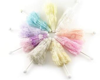 051ff3ae802c 8 Lace Umbrellas Parasols Wedding Baby Shower Favor 12