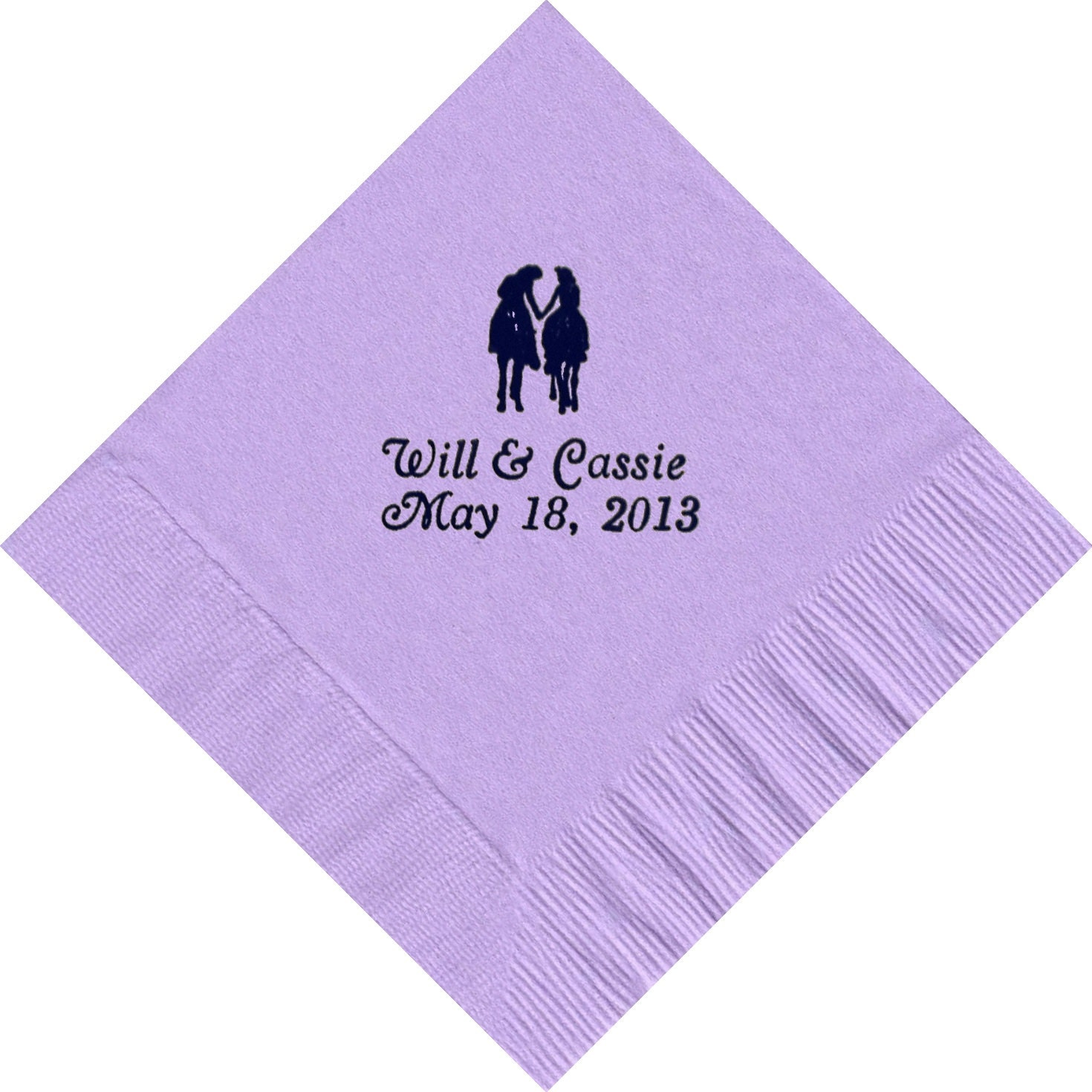 50 Western Romance logo Luncheon Dinner personalized napkins wedding engagement anniversary birthday holiday special event