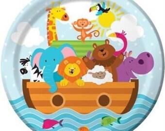 Noah's Ark 9-inch Paper Plates 8 Per Pack