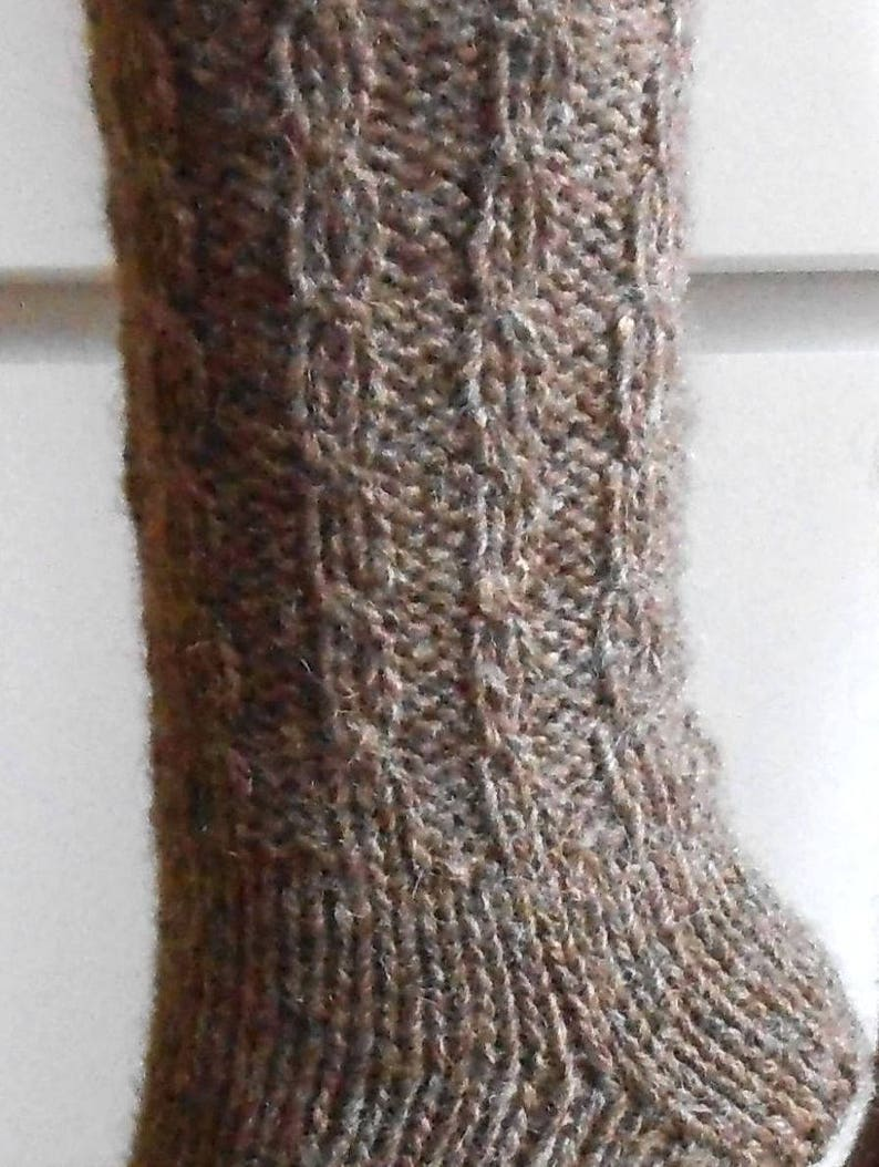 Men/'s Wool Socks In Color Coffee with Milk Pure Sheep Wool Yarn Hand Knitted Wool Socks. Soft and Comfy