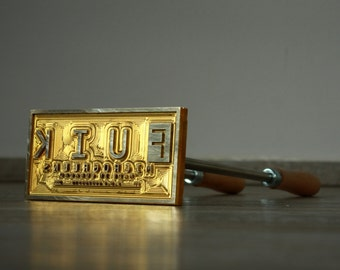 Custom Logo Branding Iron Extra large- made of brass - DHL worldwide 1-5 days