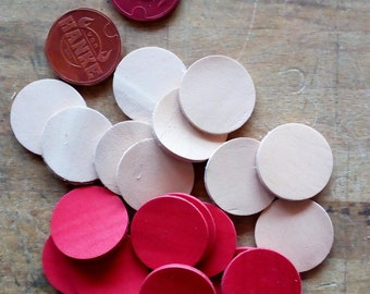 Leather circles set of 10 pieces