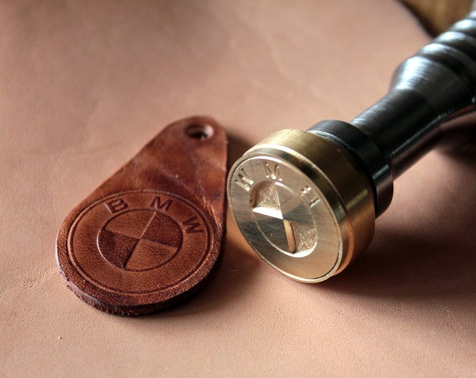 Custom brass stamp for leather