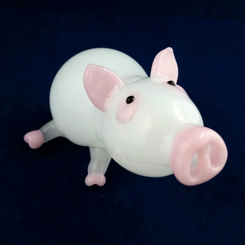 Glass Pipes Pig Collectable Tobacco Pipe
